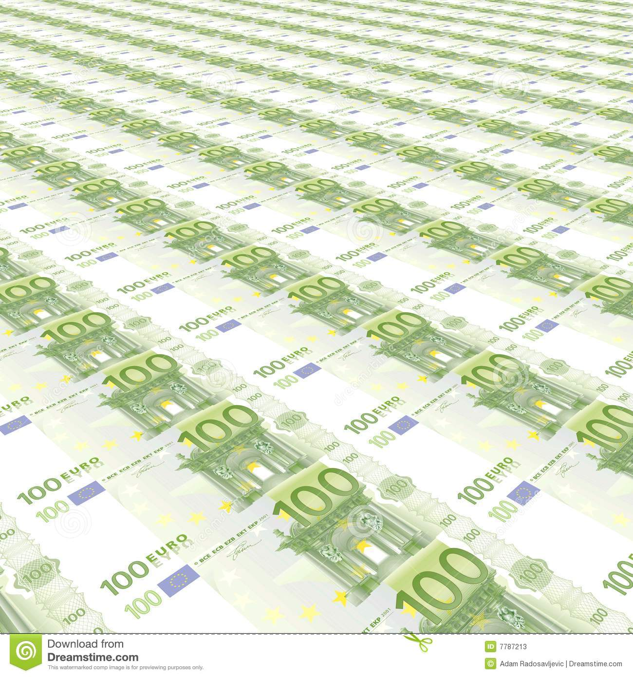 100 euros background stock illustration illustration of for Canape a 100 euros
