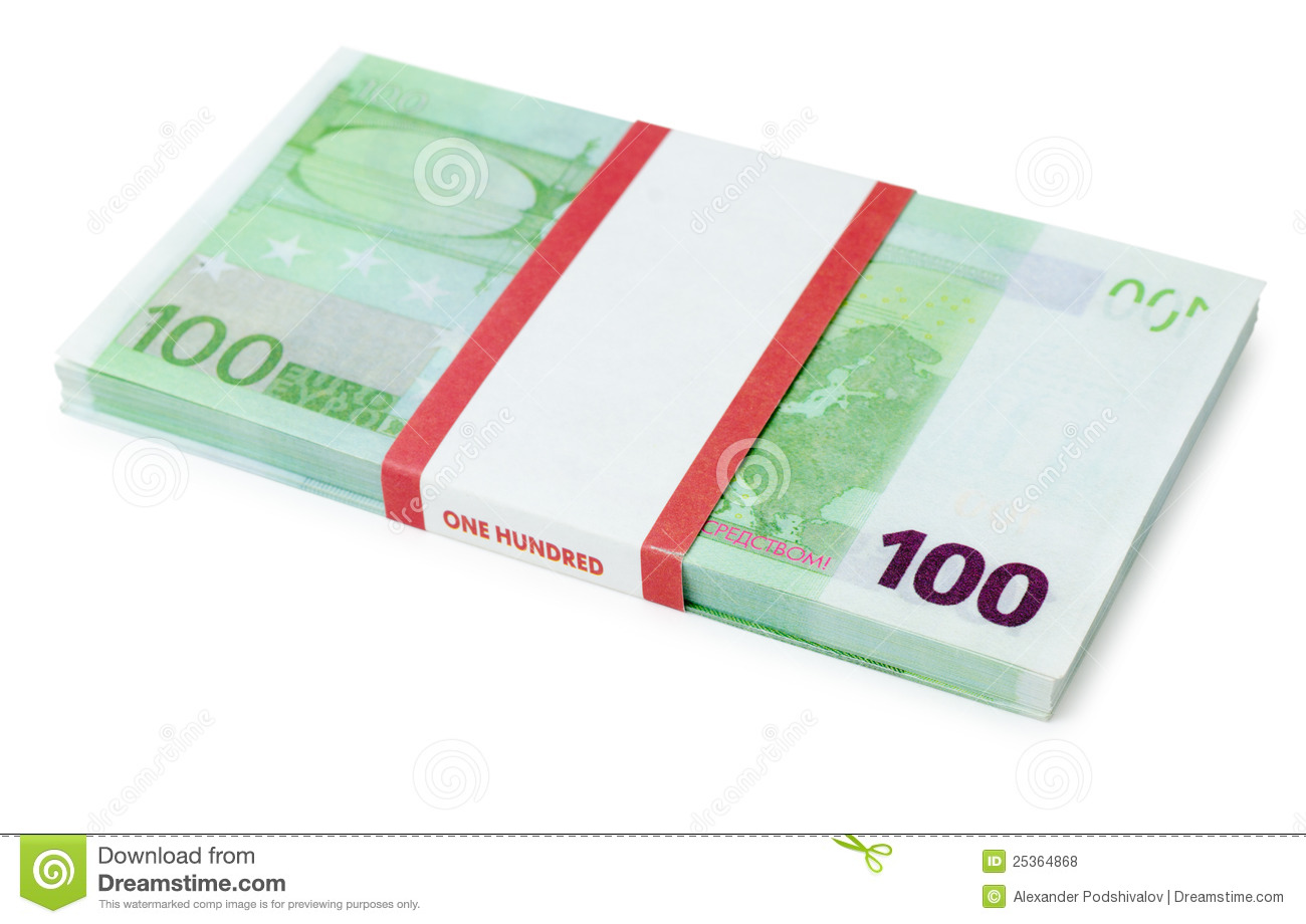 100 euros batch stock photo image of many pack nobody for Canape a 100 euros