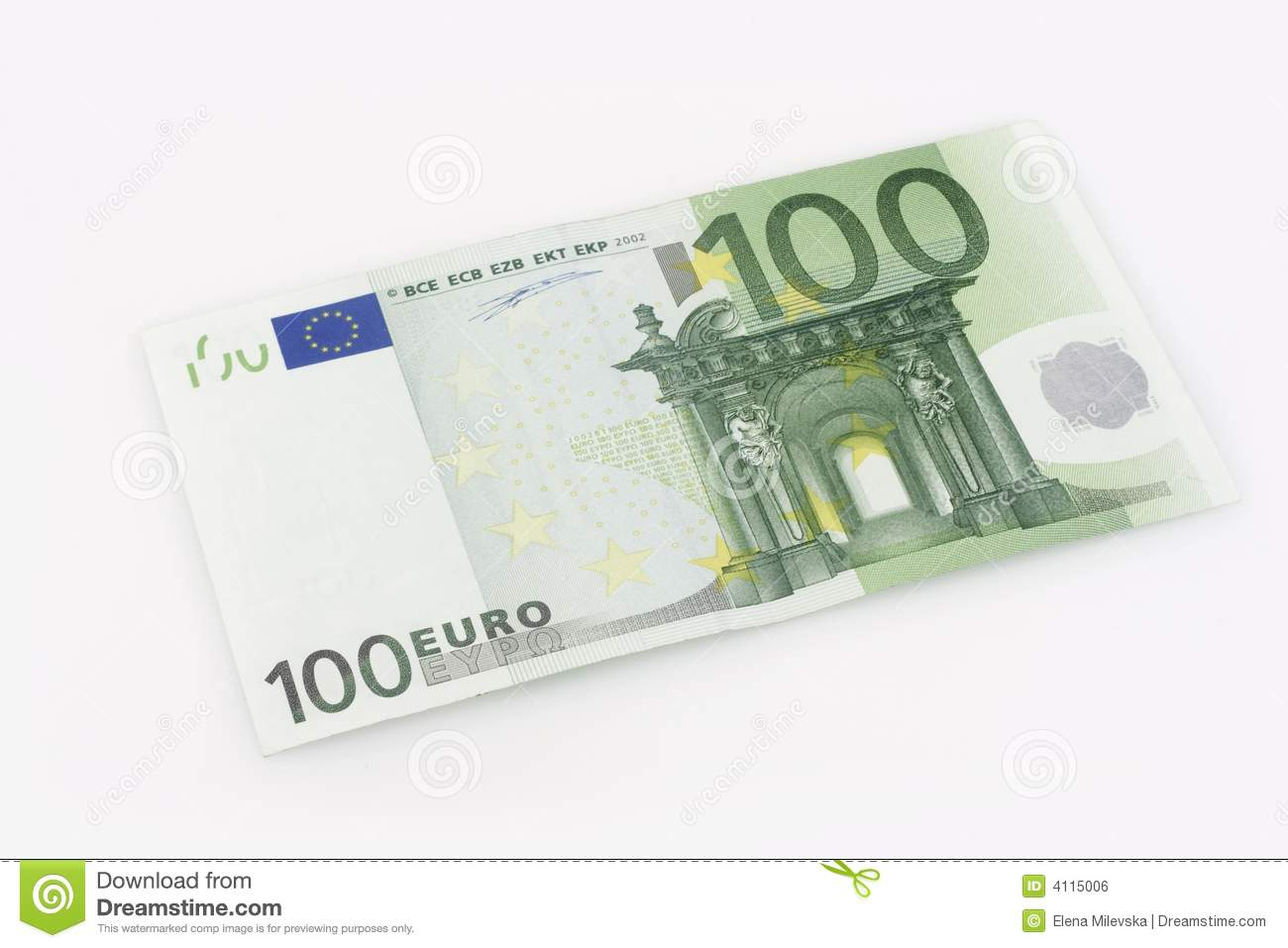 100 euros bill stock photo image of finance stock white for Canape a 100 euros