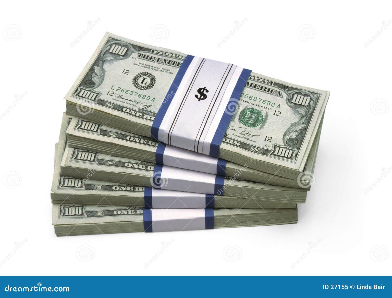 $100 factures - empilées