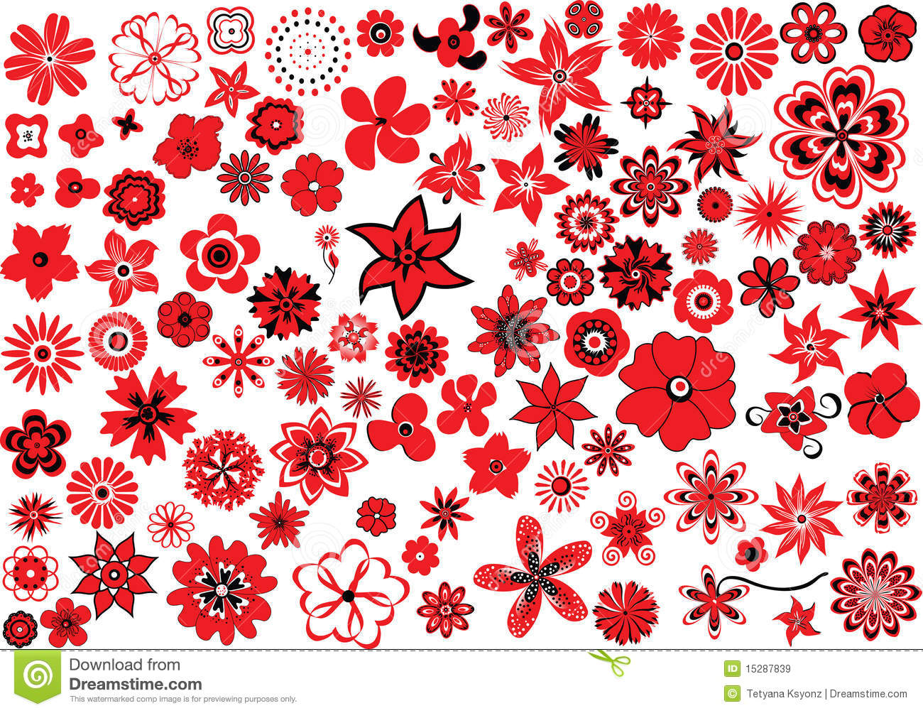 100 Flowers Royalty Free Stock Image