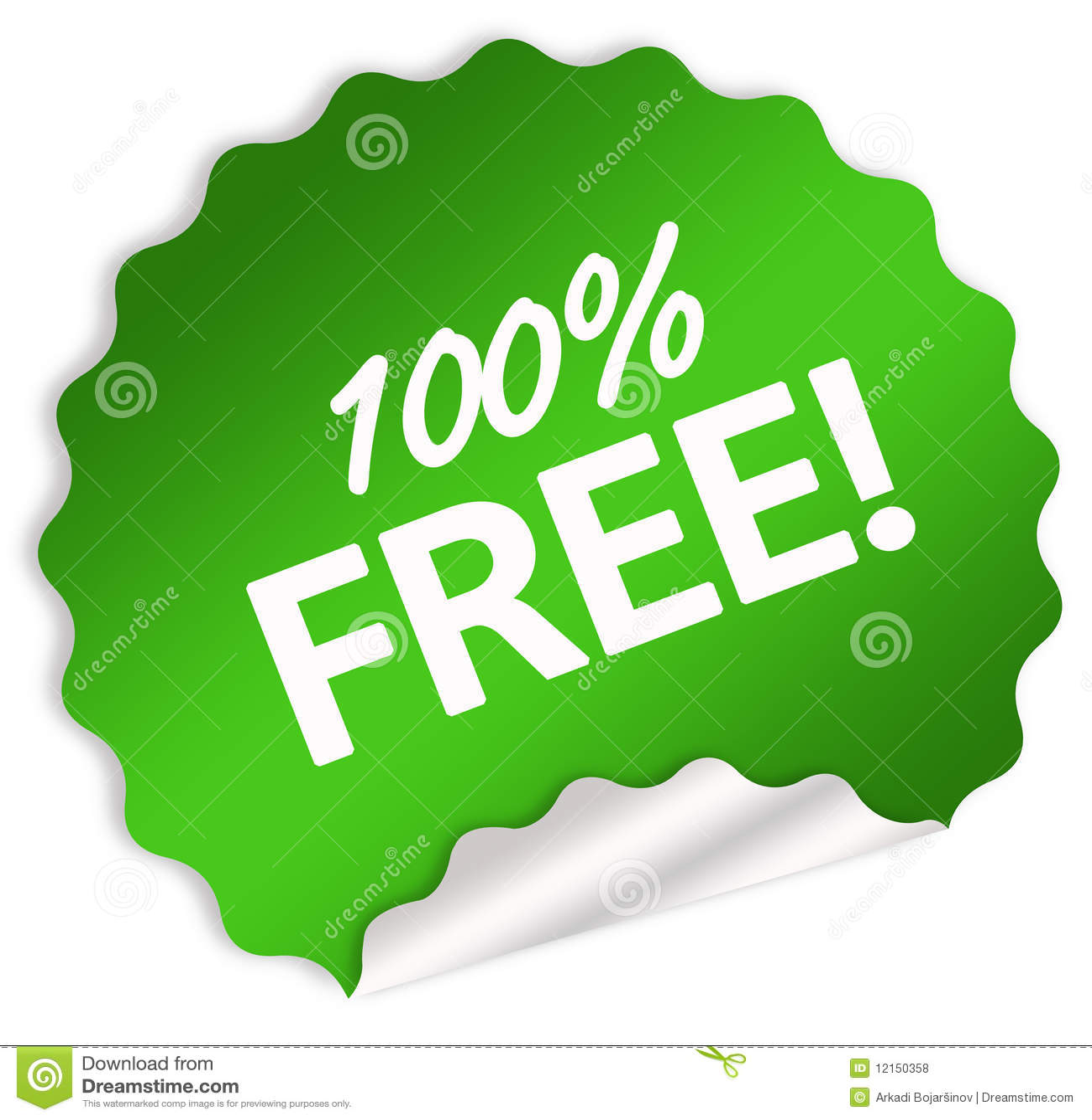 100 free sticker stock illustration illustration of percent 12150358