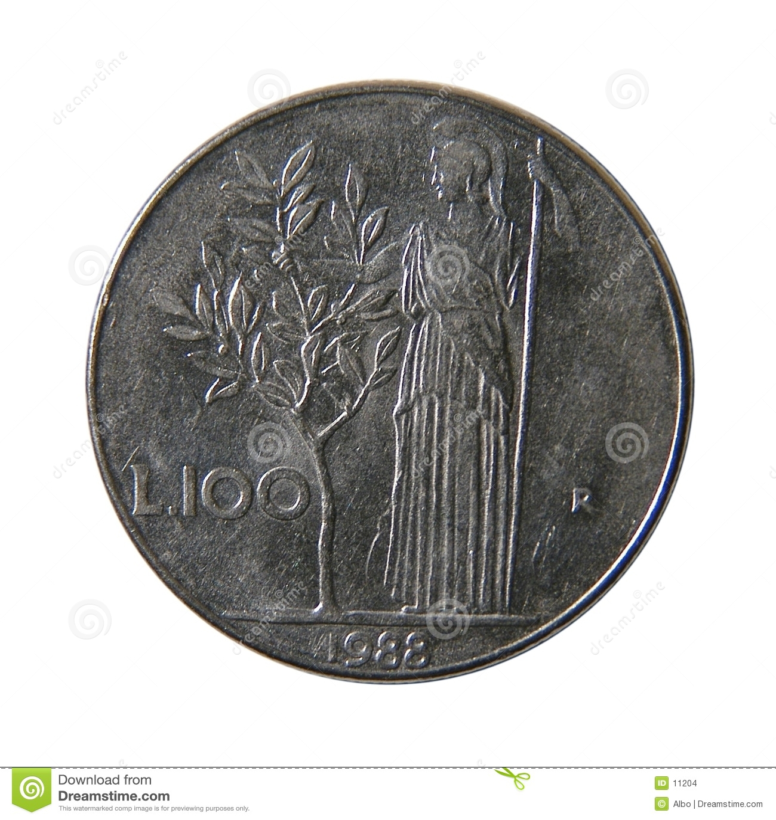 100 lirów włoskich