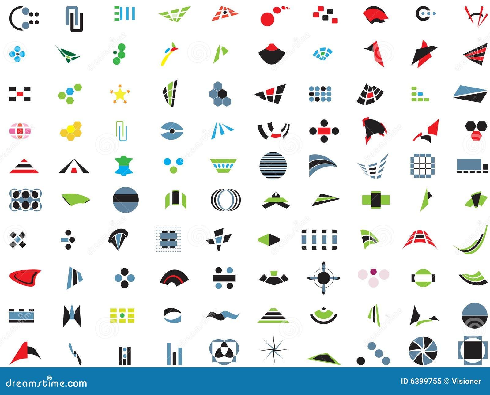 100 logos et éléments de vecteur