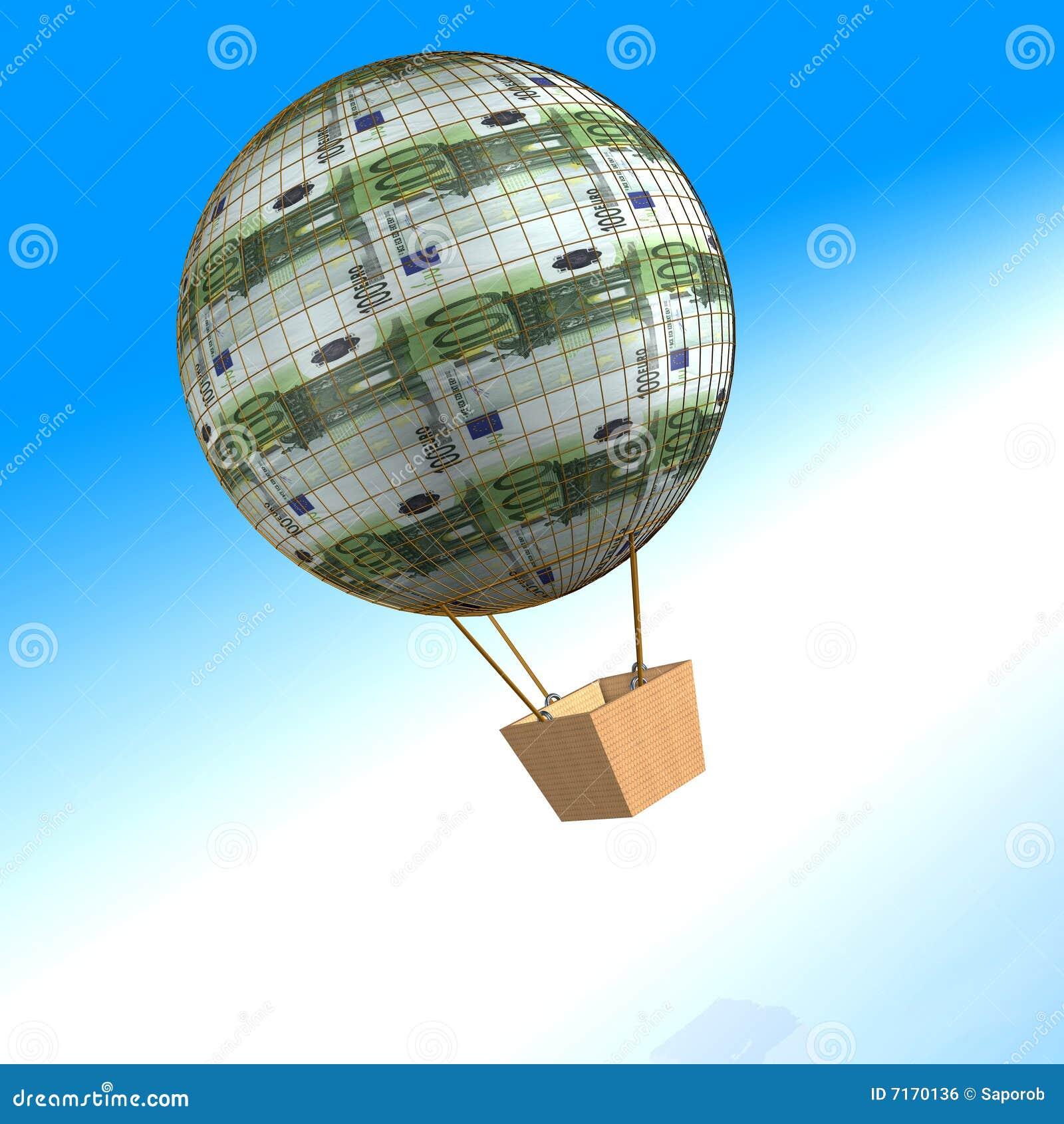 100 lotniczego balonu euro