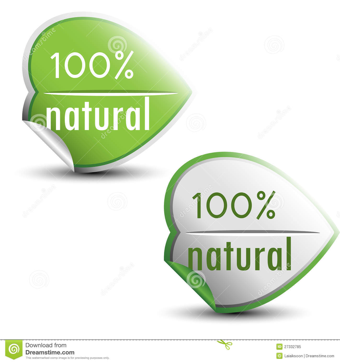 100% Natural Stickers Royalty Free Stock Photo - Image: 27332785