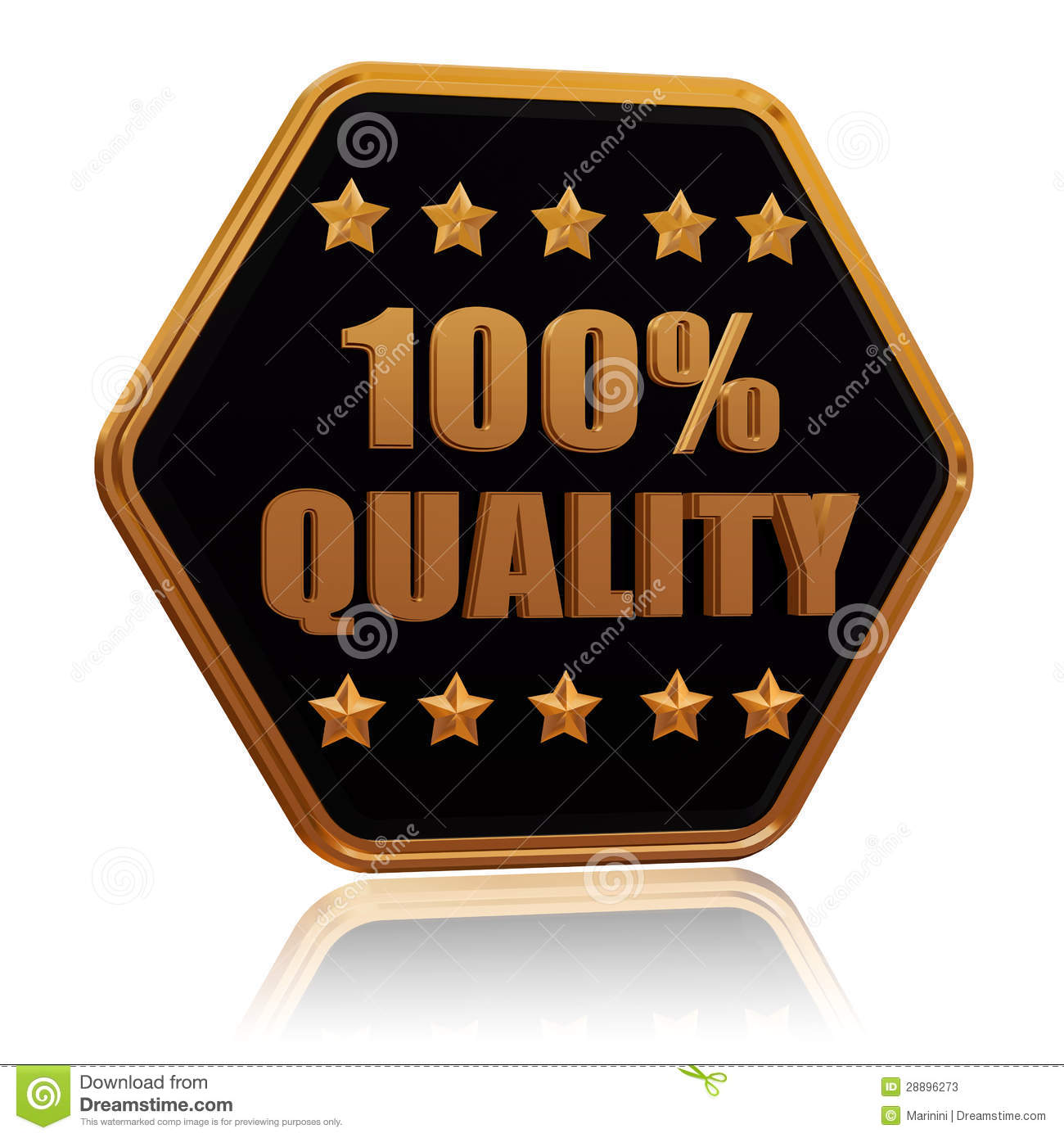 100 Percentages Quality Five Star Hexagon Button Stock