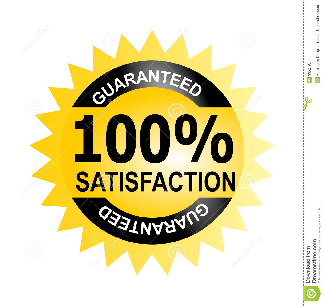 100 satisfaction guaranteed stock illustration illustration of rh dreamstime com 100 satisfaction guarantee logo free satisfaction guaranteed logo png