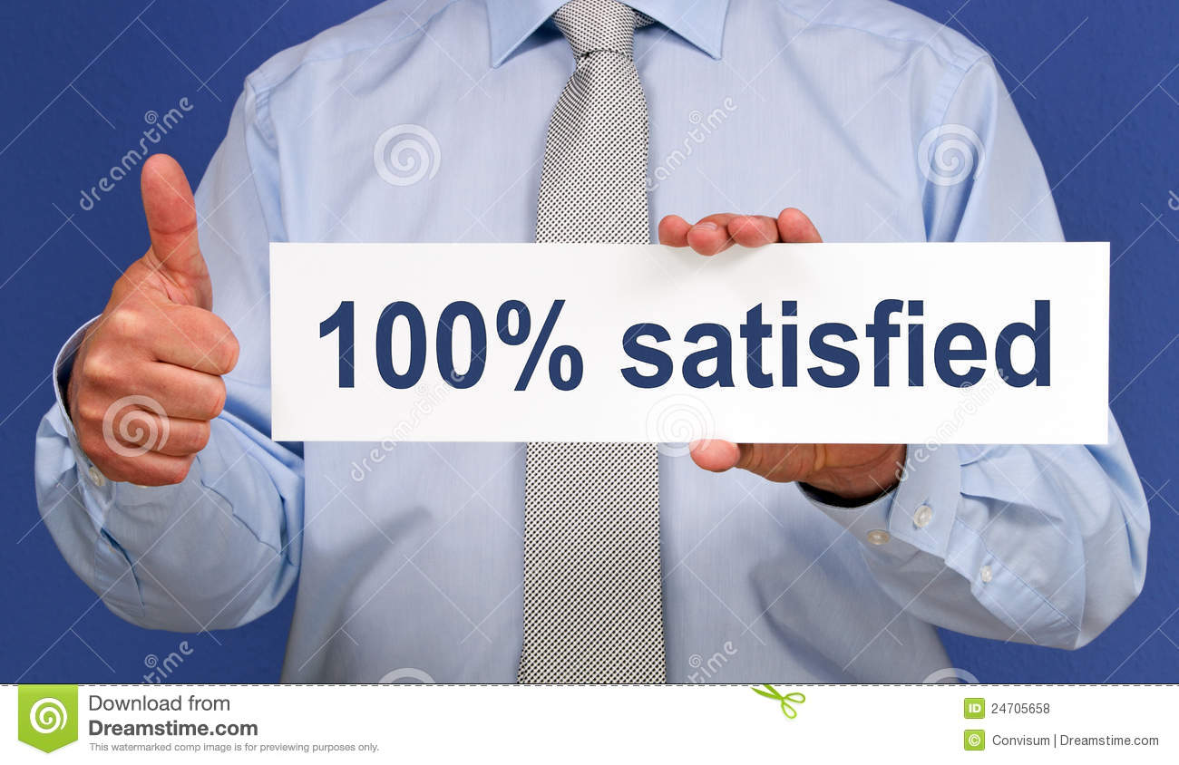 100 Satisfied Sign Royalty Free Stock Photos Image