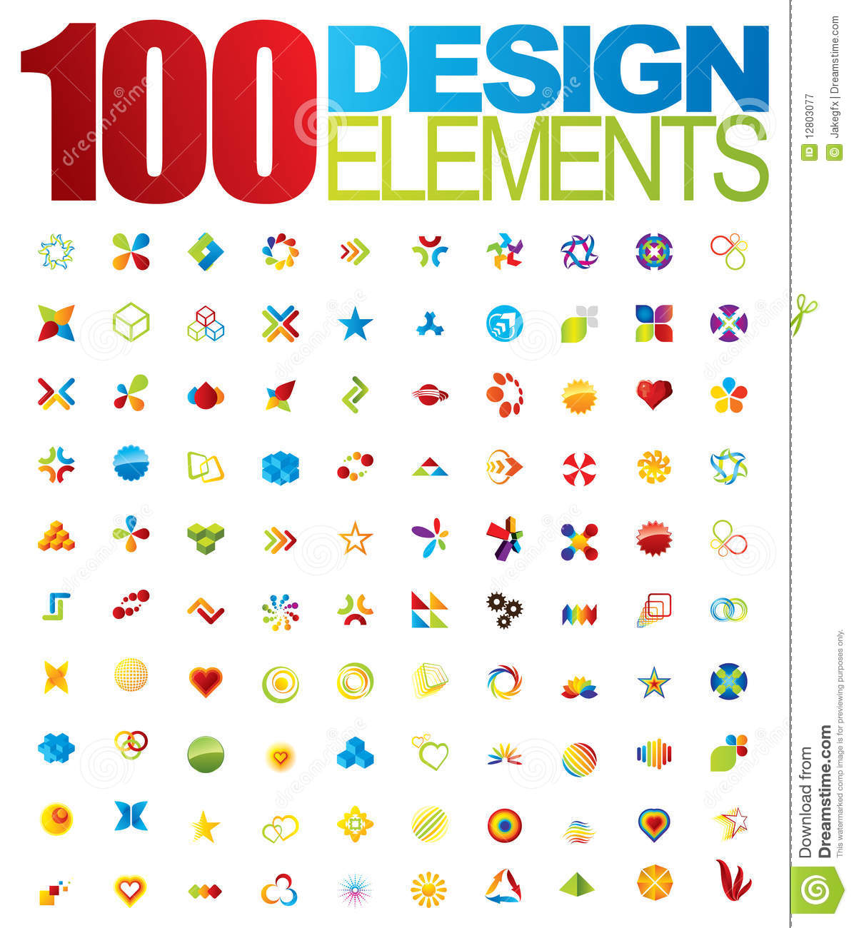 100 Vector Logo And Design Elements Royalty Free Stock Photography ...