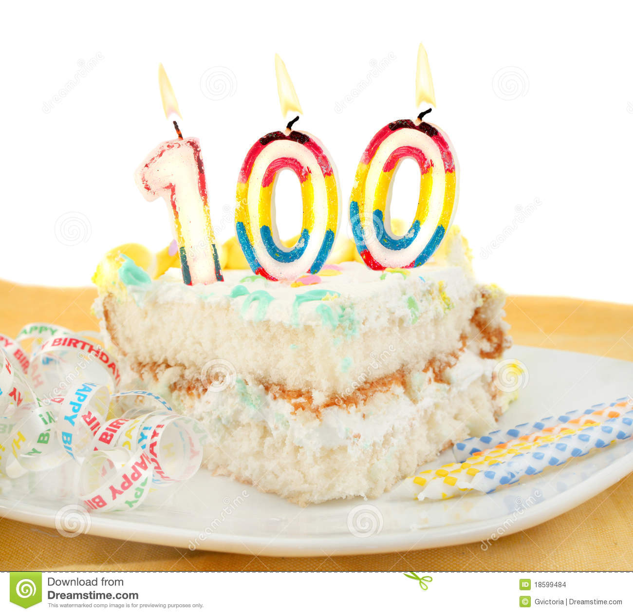 100 Year Birthday Or Anniversary Cake
