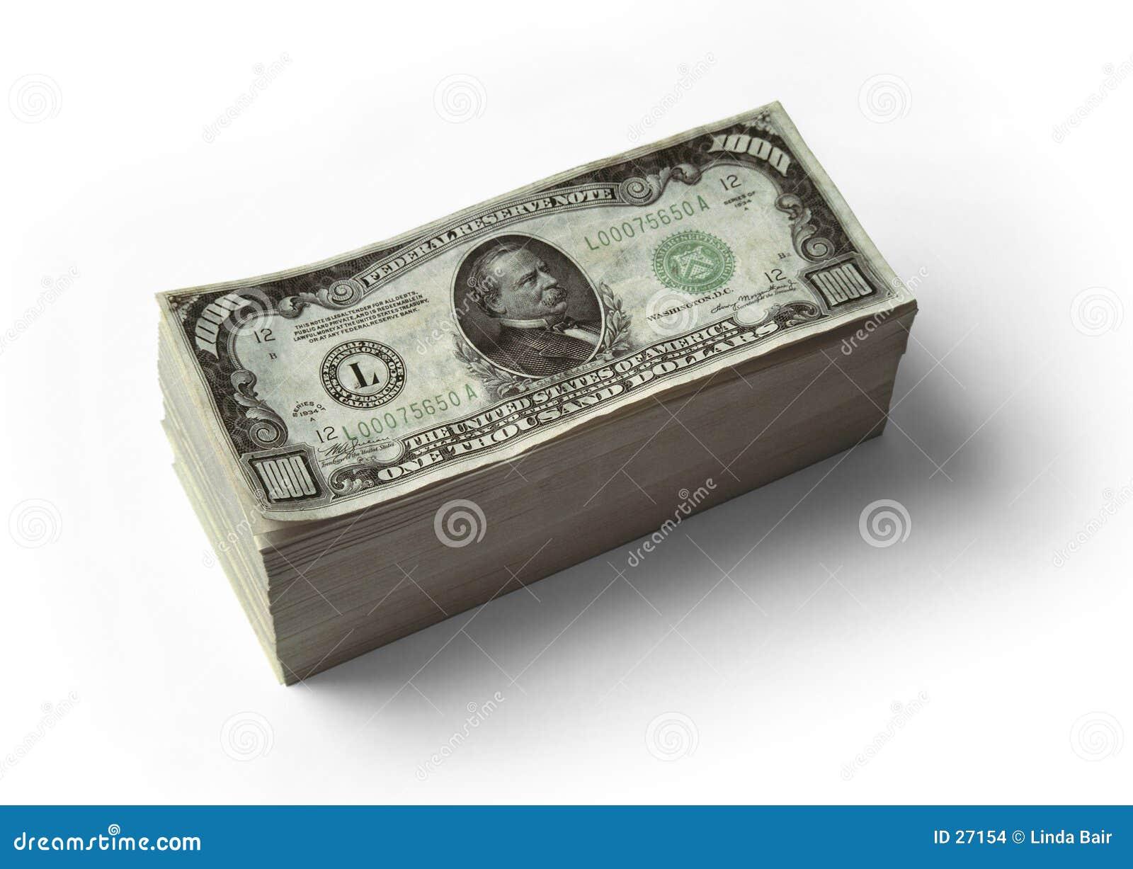 $1000 Gestapelde rekeningen -