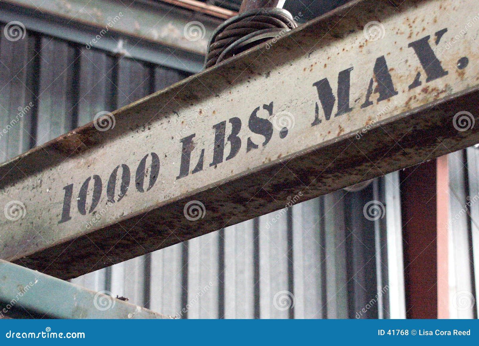 1000 libras máximo