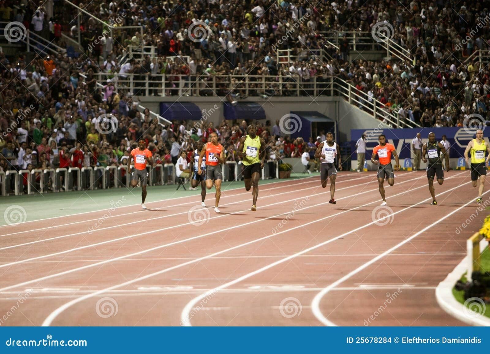 100m 2009年竞技螺栓最终精神usain世界