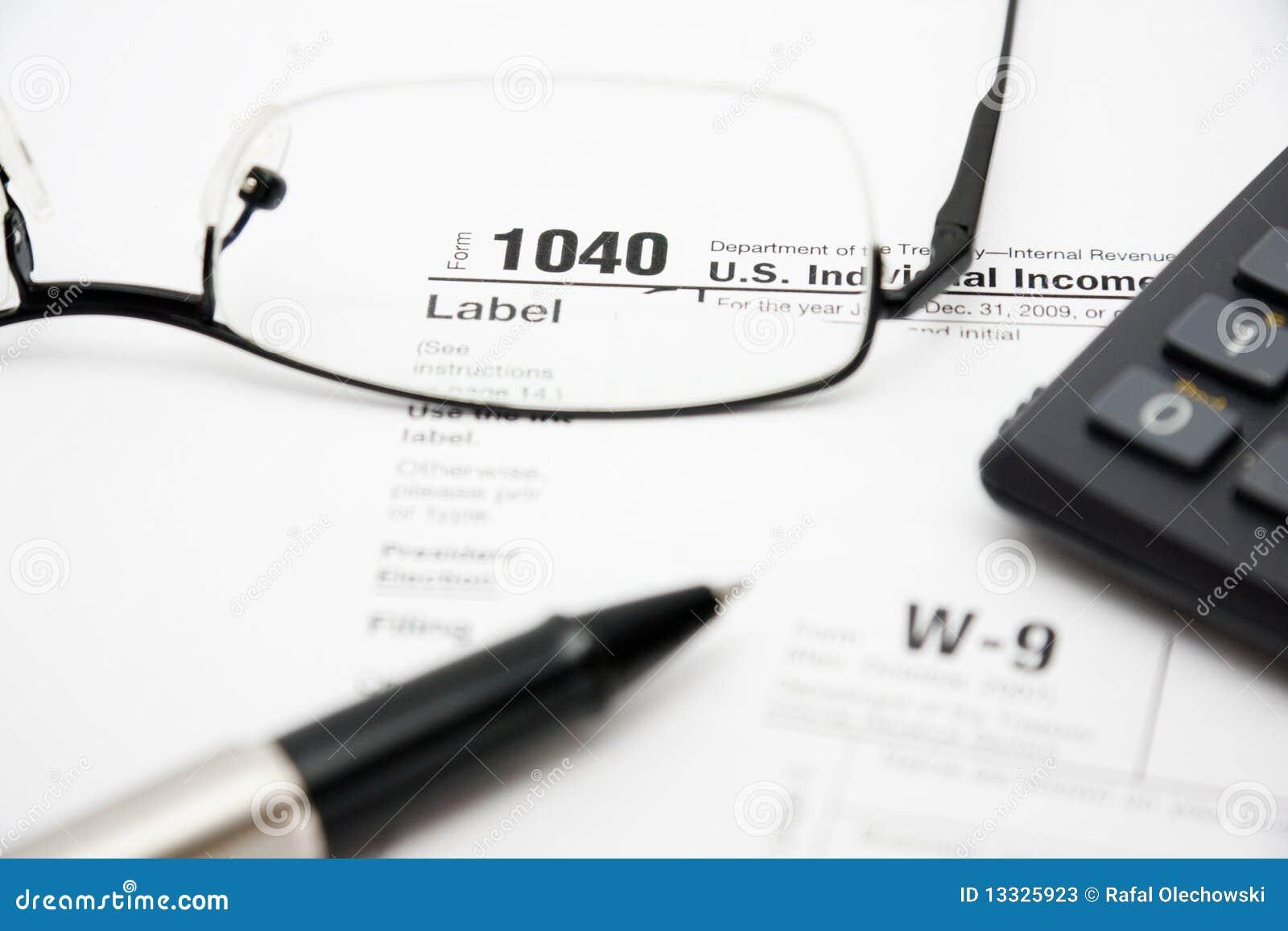 1040 plombowania form podatek