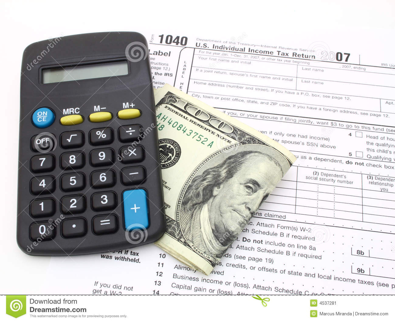 1040 tax form editorial photo image 4537281 for 1040 tax table calculator