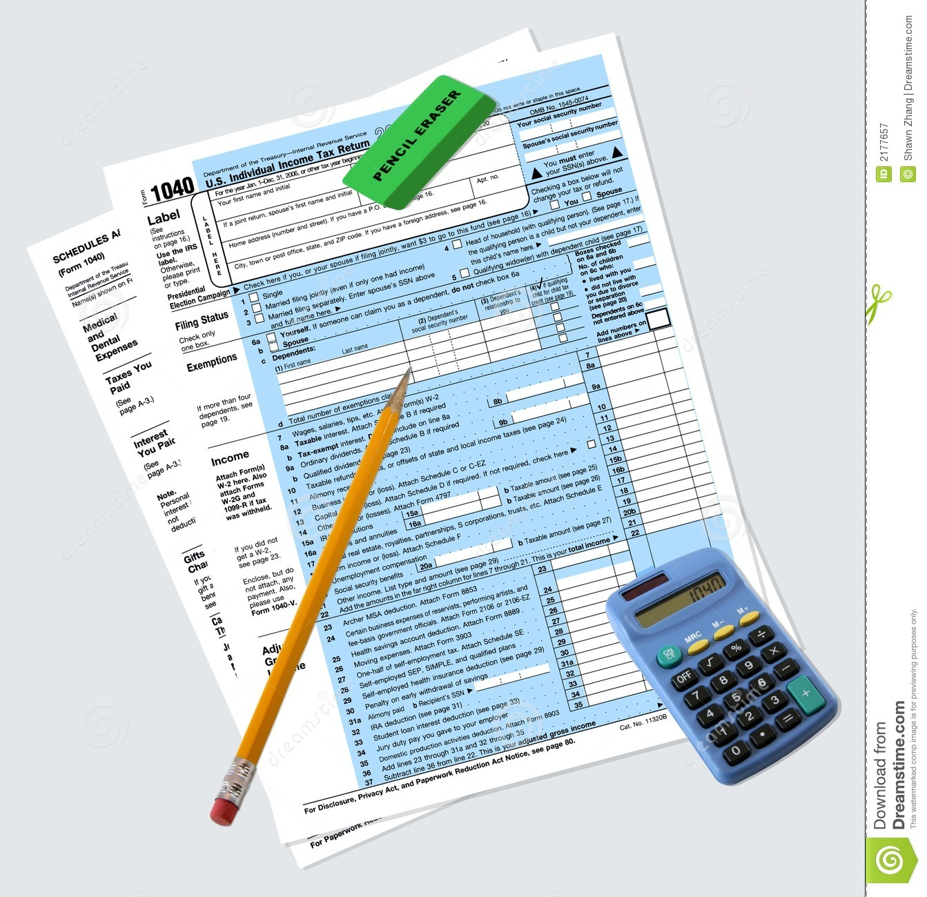 1040 tax return forms royalty free stock photography for 1040 tax table calculator