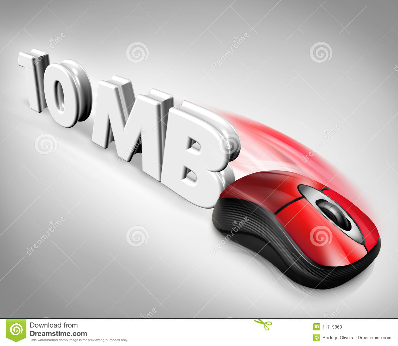 10Mb 10mb speed mouse stock illustration. illustration of limit