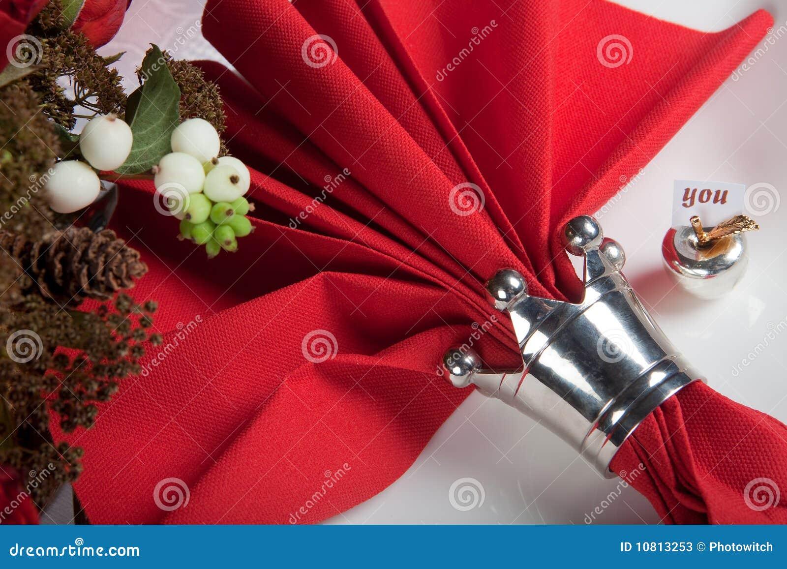 11 świąteczny czerwieni stołu biel