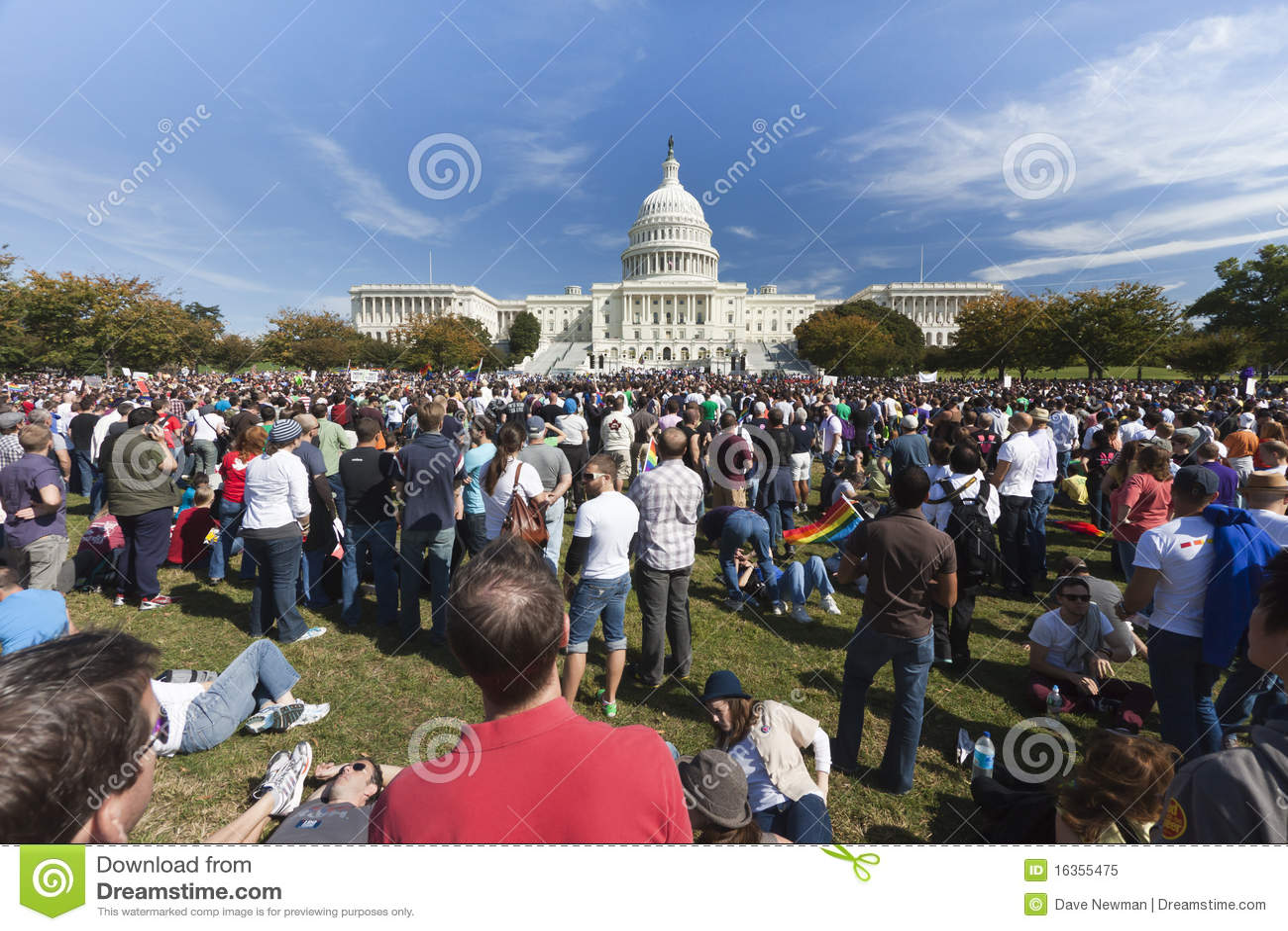 11 2009 homoseksualnych marszów Październik wyprostowywają Washington