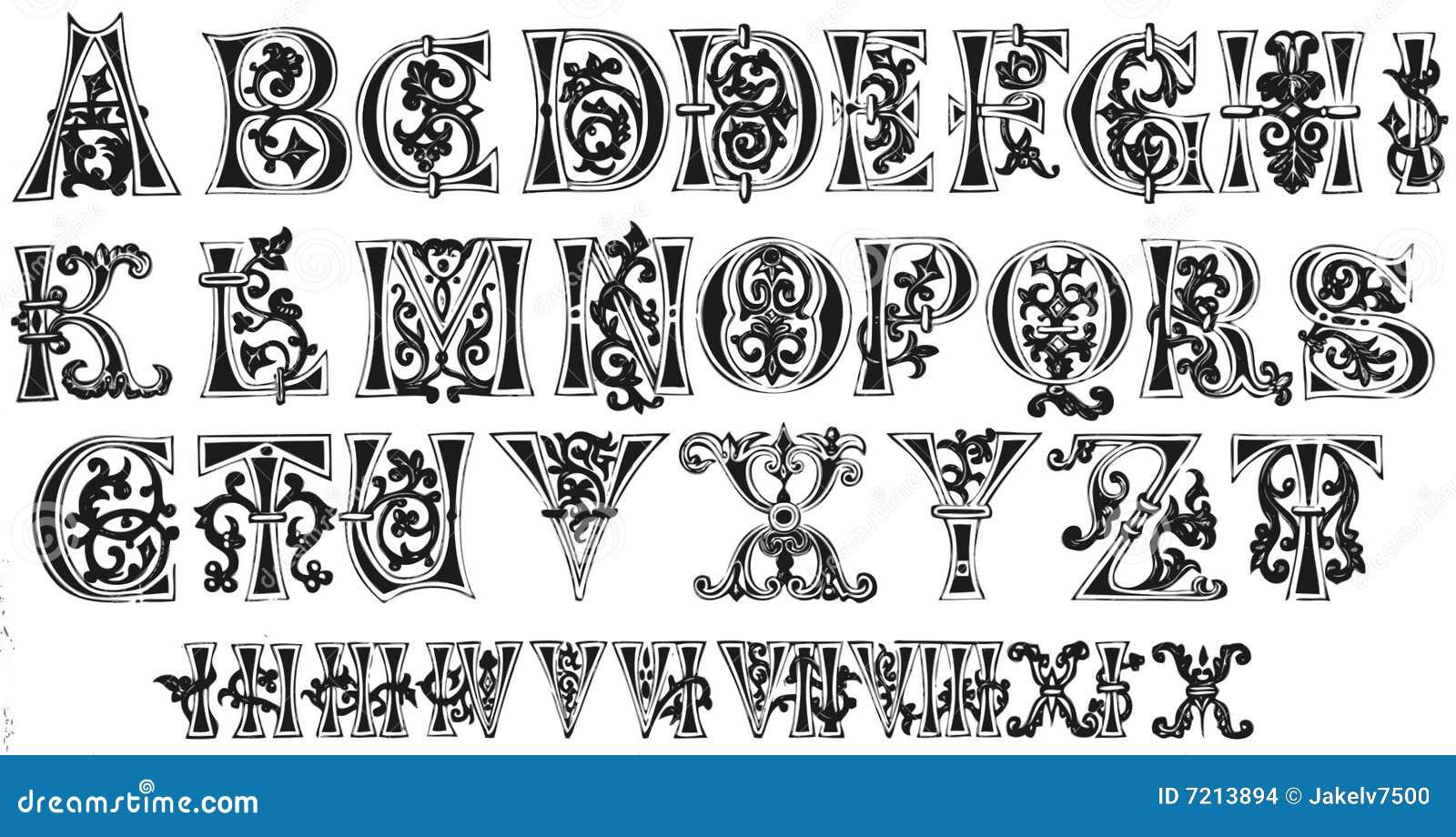 Capital Letter T Font Chart