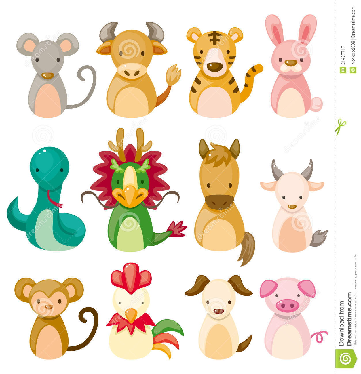 ... Chinese Zodiac Animal Royalty Free Stock Photography - Image: 21457717: www.dreamstime.com/royalty-free-stock-photography-12-animal-icon...