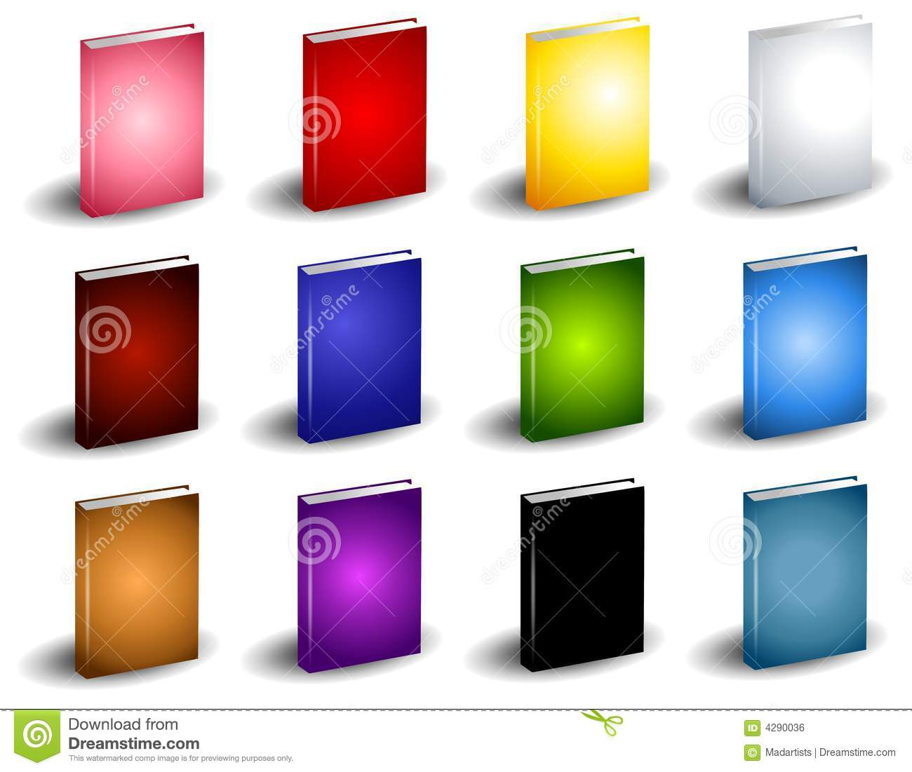 Book Cover Images Royalty Free : Colorful book covers royalty free stock image