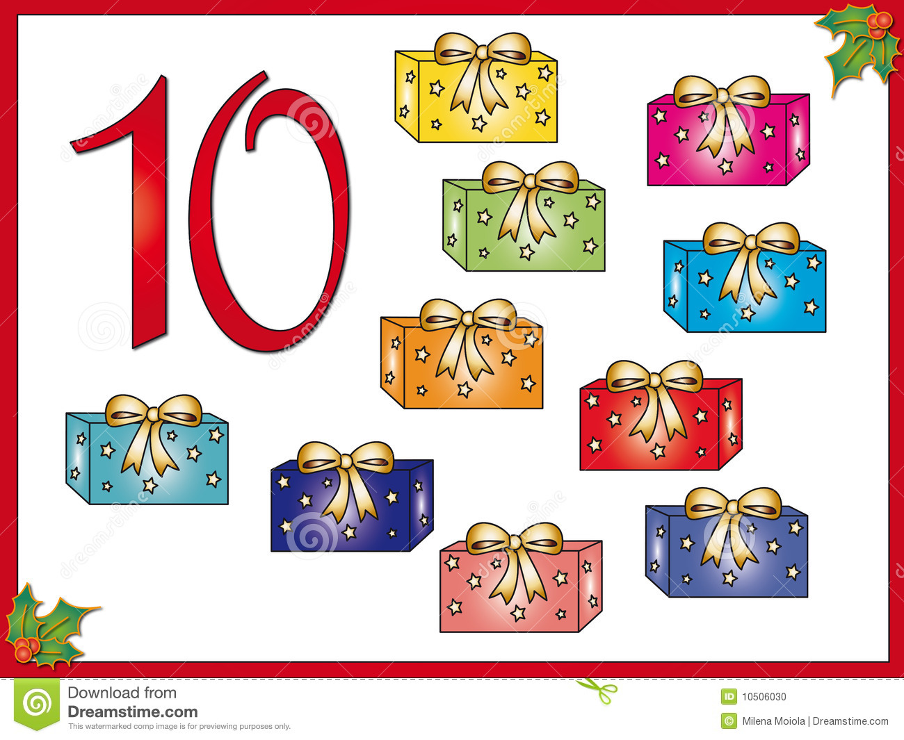 12 days of christmas 10 gifts