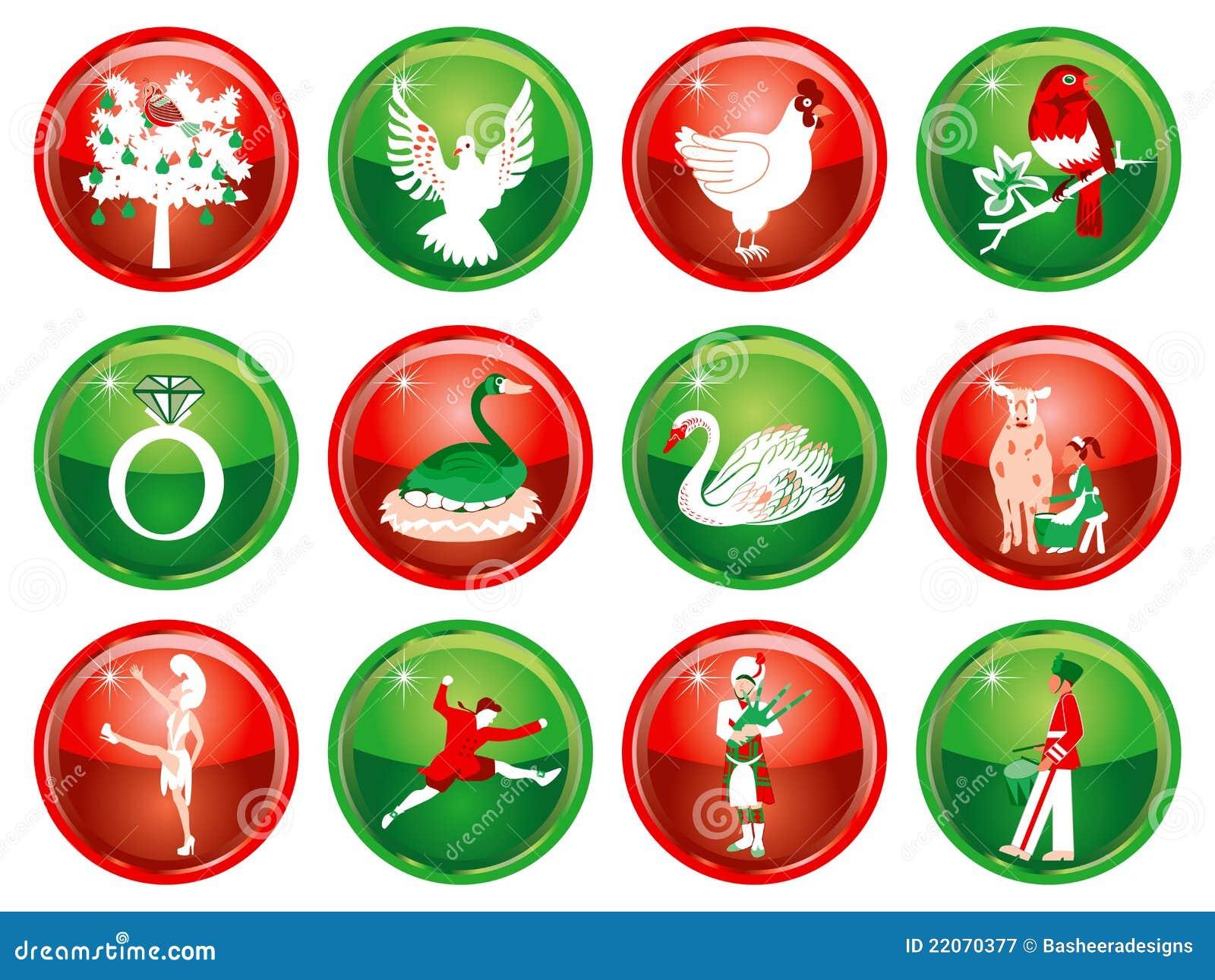 12 jours de Noël illustration de vecteur. Illustration du noël