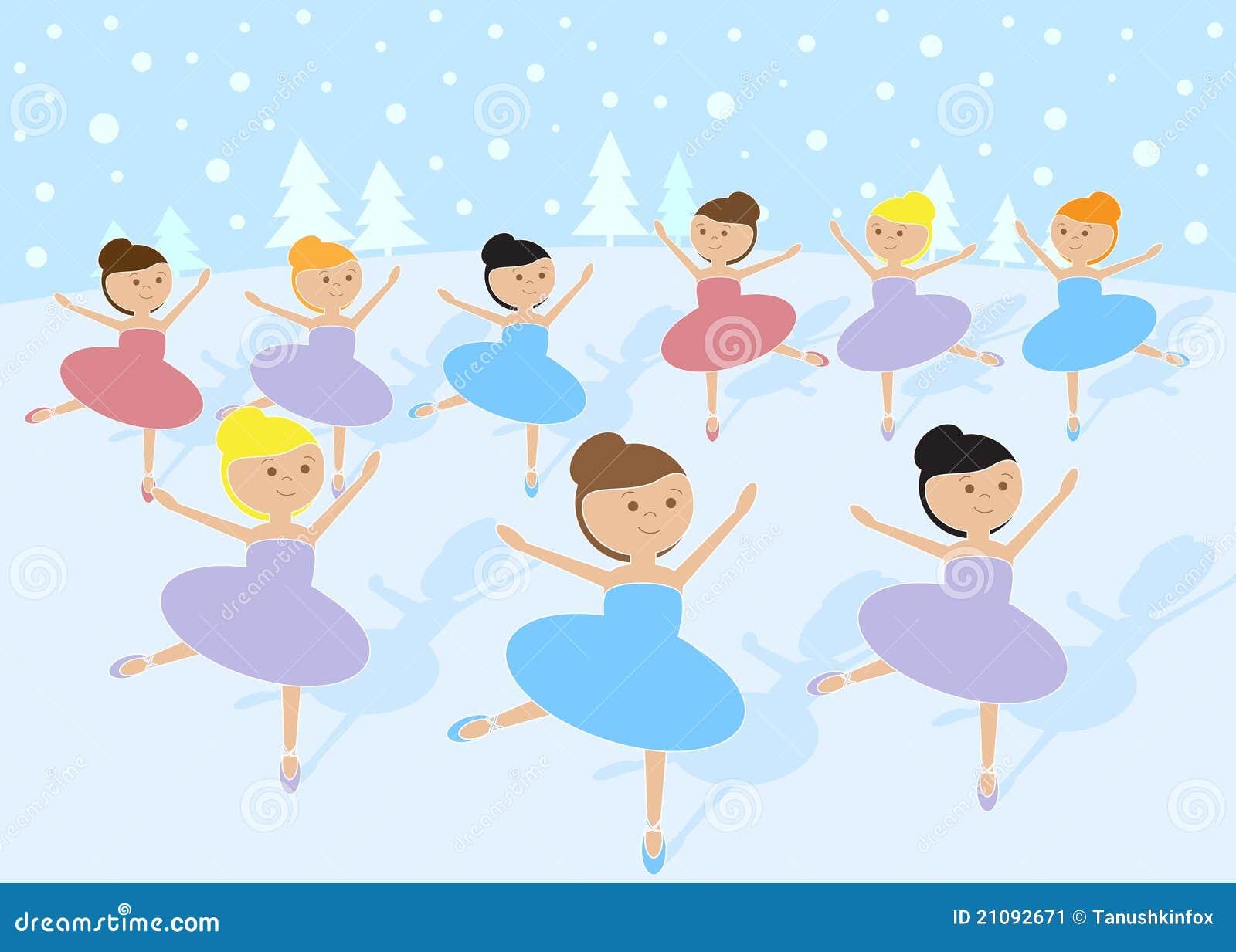 12 Tage Weihnachten: 9 Dame-Tanzen