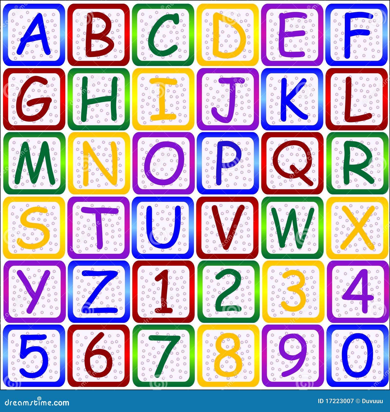 123 abc-bokstavsnummer