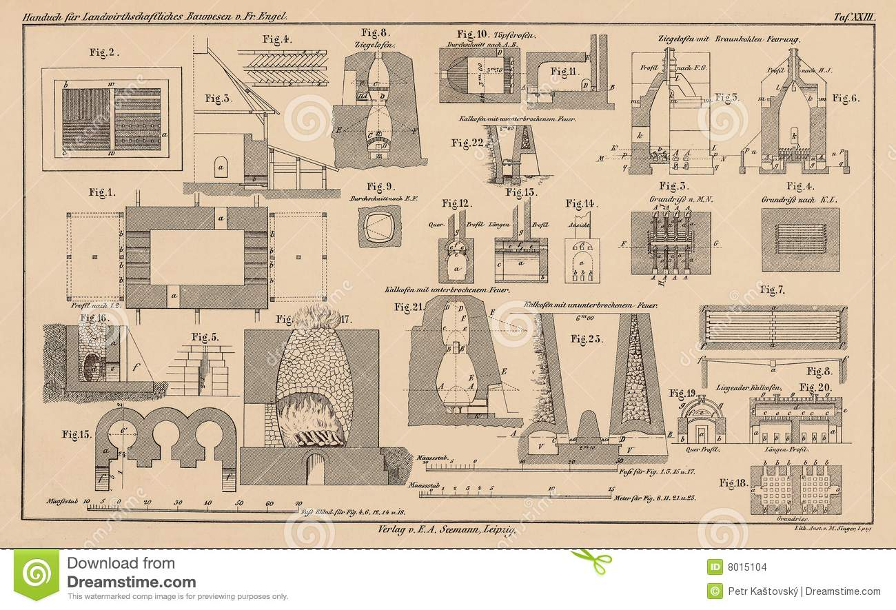 142 years old technical drawing stock images image 8015104 for Architecture antique