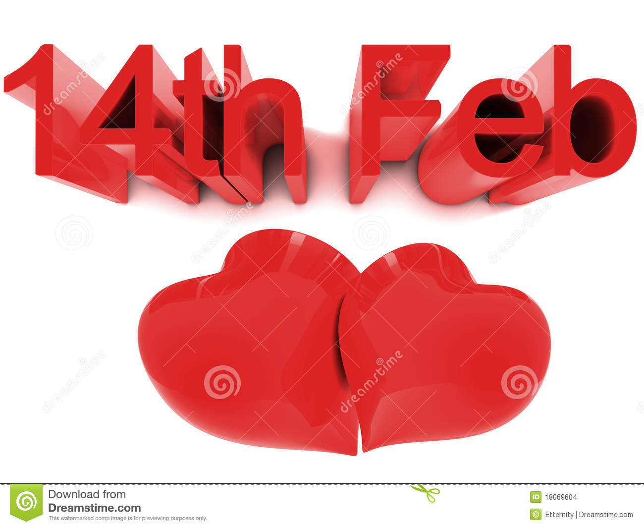 14th February St. Valentines Day Stock Illustration - Image: 18069604