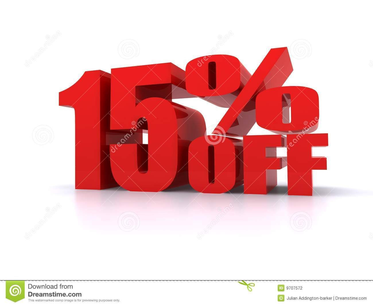 15% Percent Off Promotional Sign Stock Photography - Image: 9707572