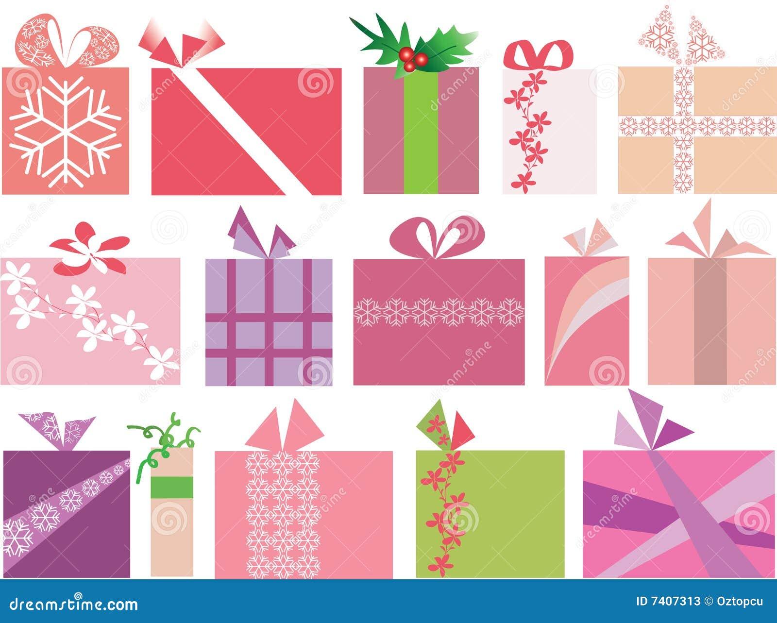 15 vecteur réglé de Noël par cadeaux