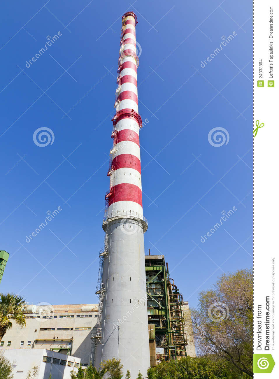 150 Meters Tall Power Plant Chimney Stock Images - Image ...