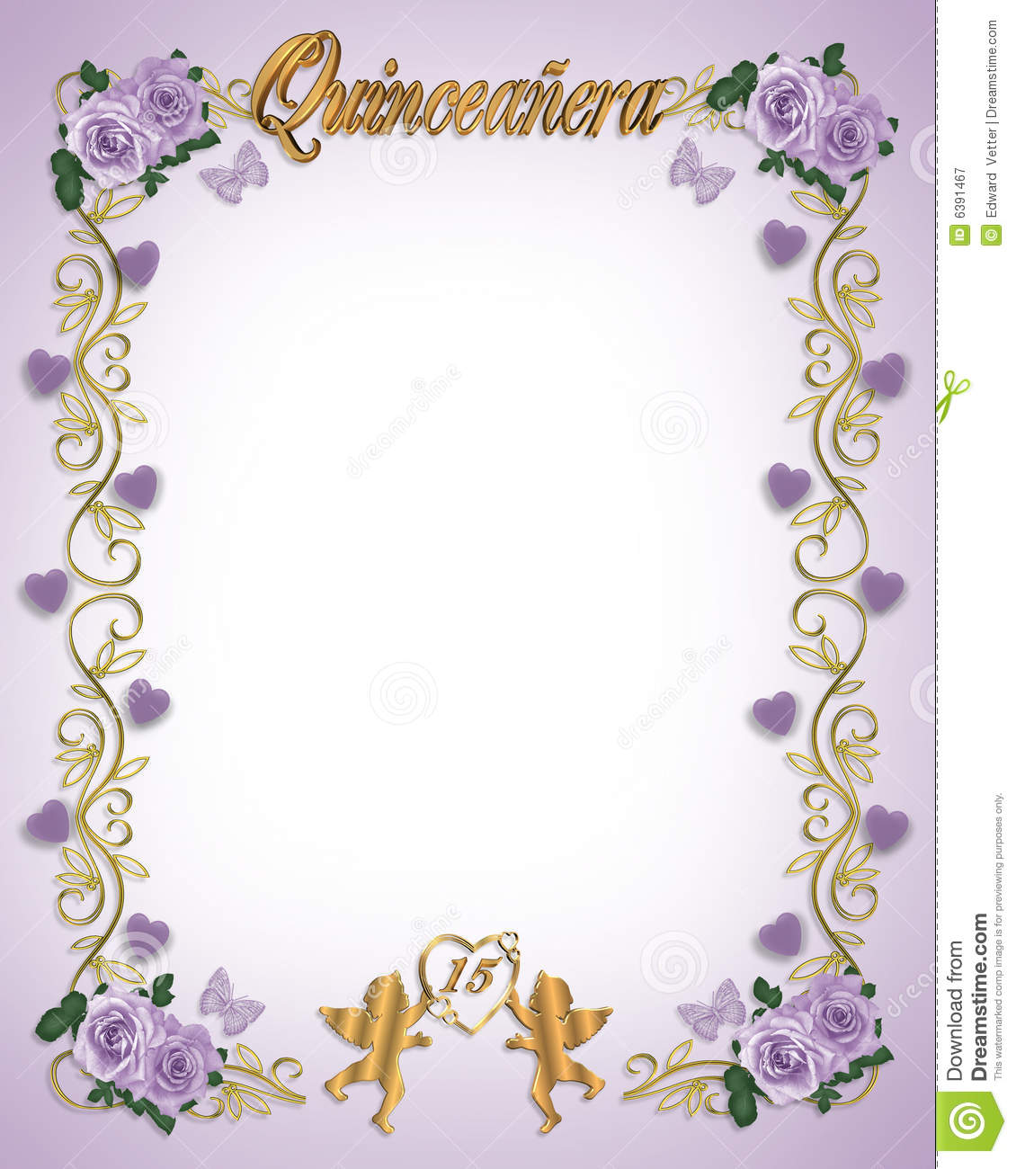 15th Birthday Quinceanera Invitation Royalty Free Stock ...