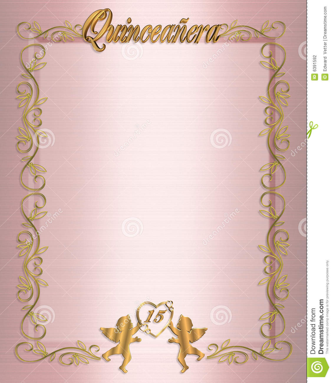 15th Birthday Quinceanera Invitation Stock Photography