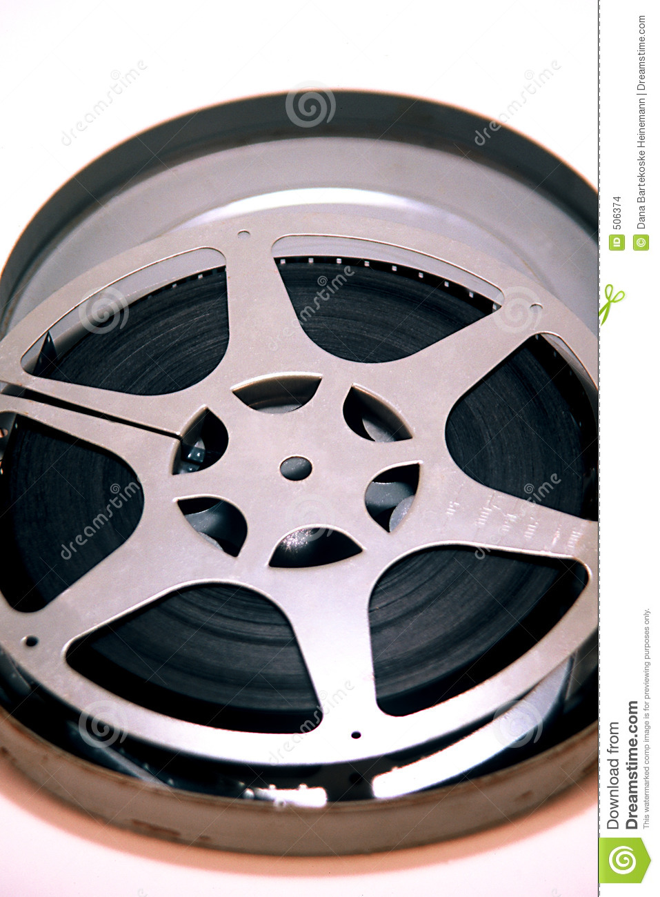 16mm Film Reel stock photo  Image of super, watch, home - 506374