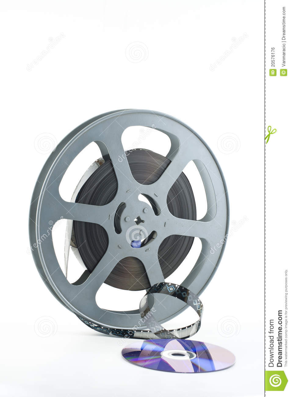 16mm Reel Movie Projectors: 16mm Film Reel And DVD Royalty Free Stock Image