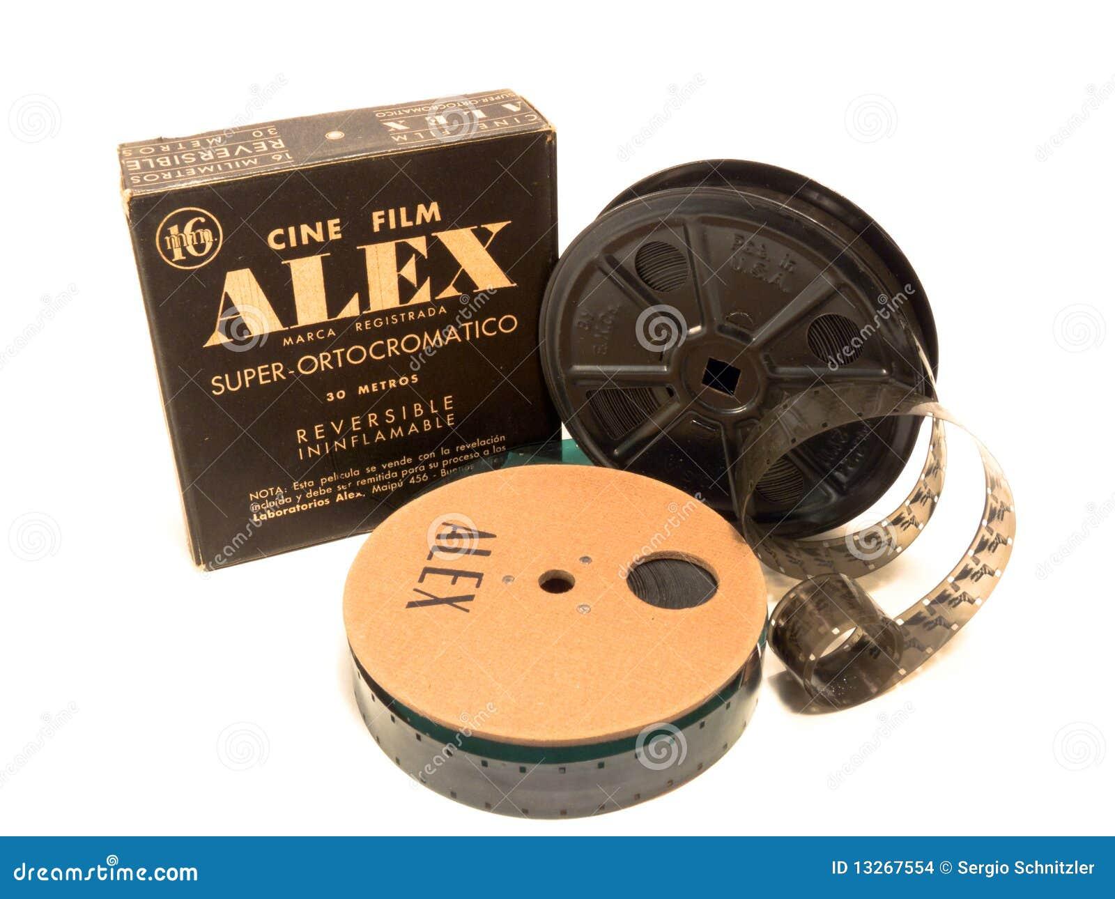 16mm rolka pudełkowata redakcyjna ekranowa Alex