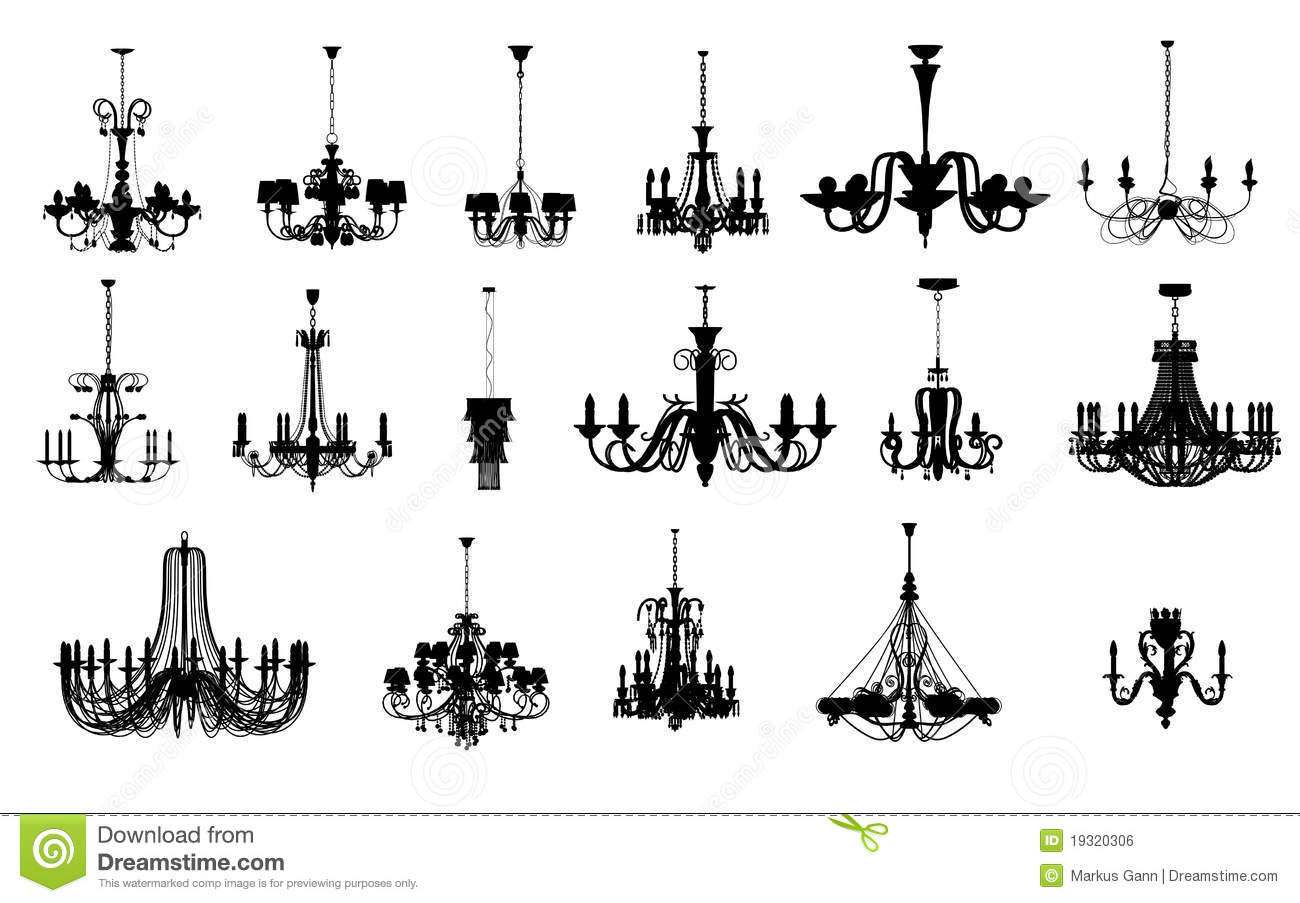 17 Different Shapes Of Chandelier Royalty Free Stock Image ...