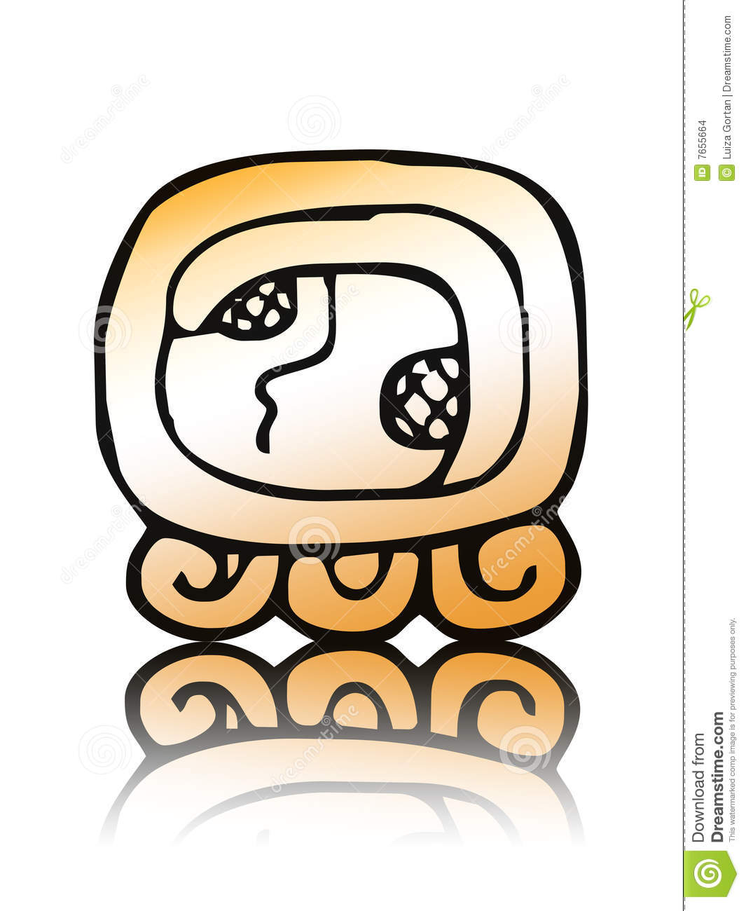 Calendario Maya Vector.17 Kaban Maya Calendar Seal Vector Stock Vector