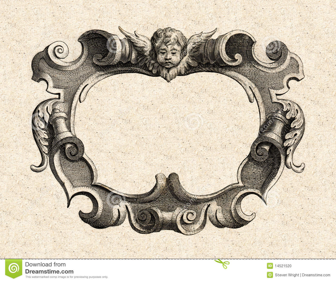17th Century Baroque Cartouche Stock Photo Image 14521520