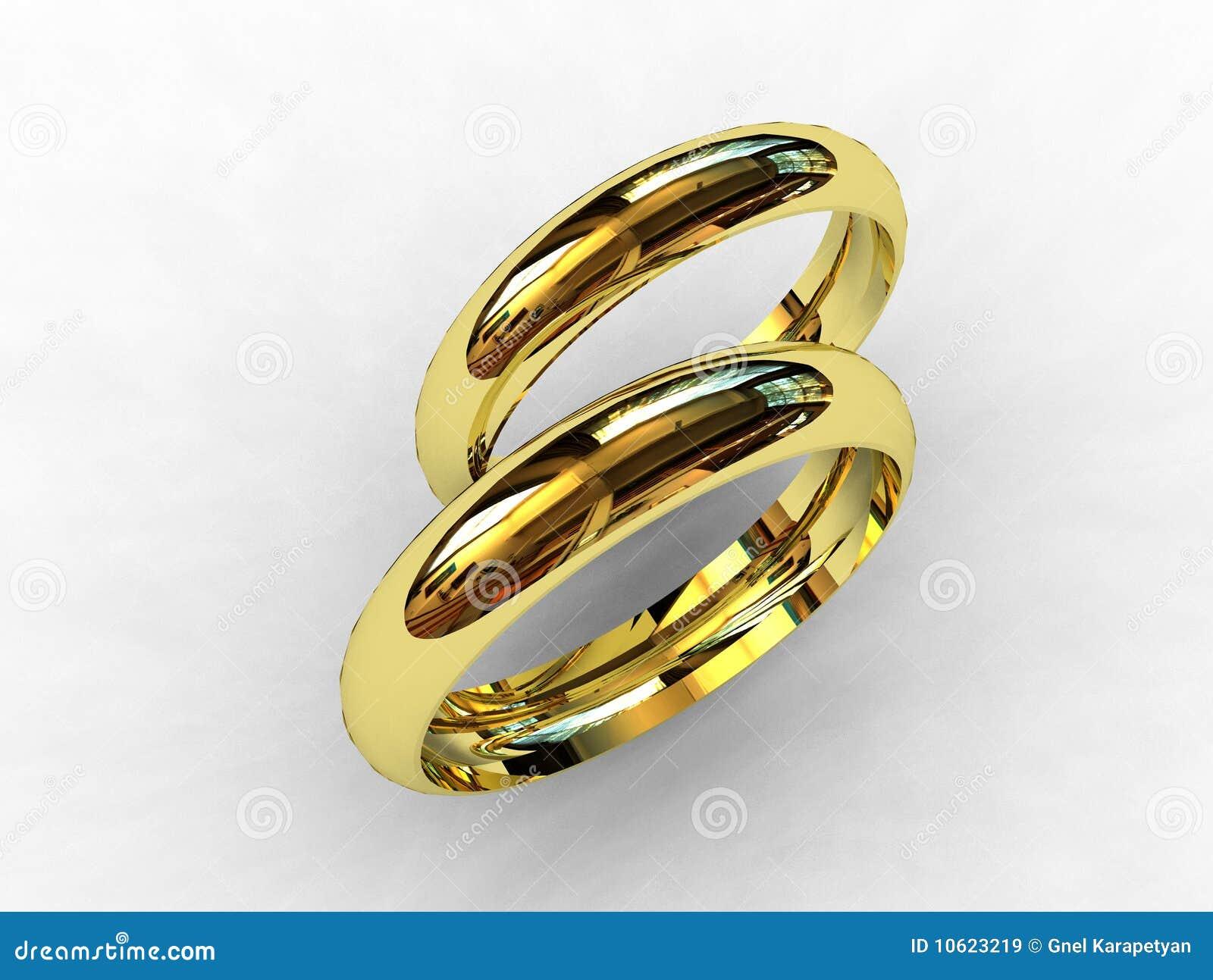 18 Karat Gold Wedding Bands Royalty Free Stock Images ...