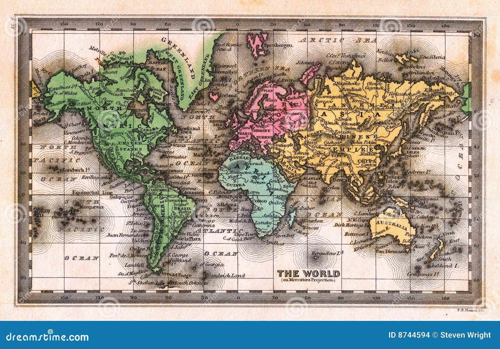 1835 antique world map stock illustration illustration of mass download 1835 antique world map stock illustration illustration of mass 8744594 gumiabroncs Images