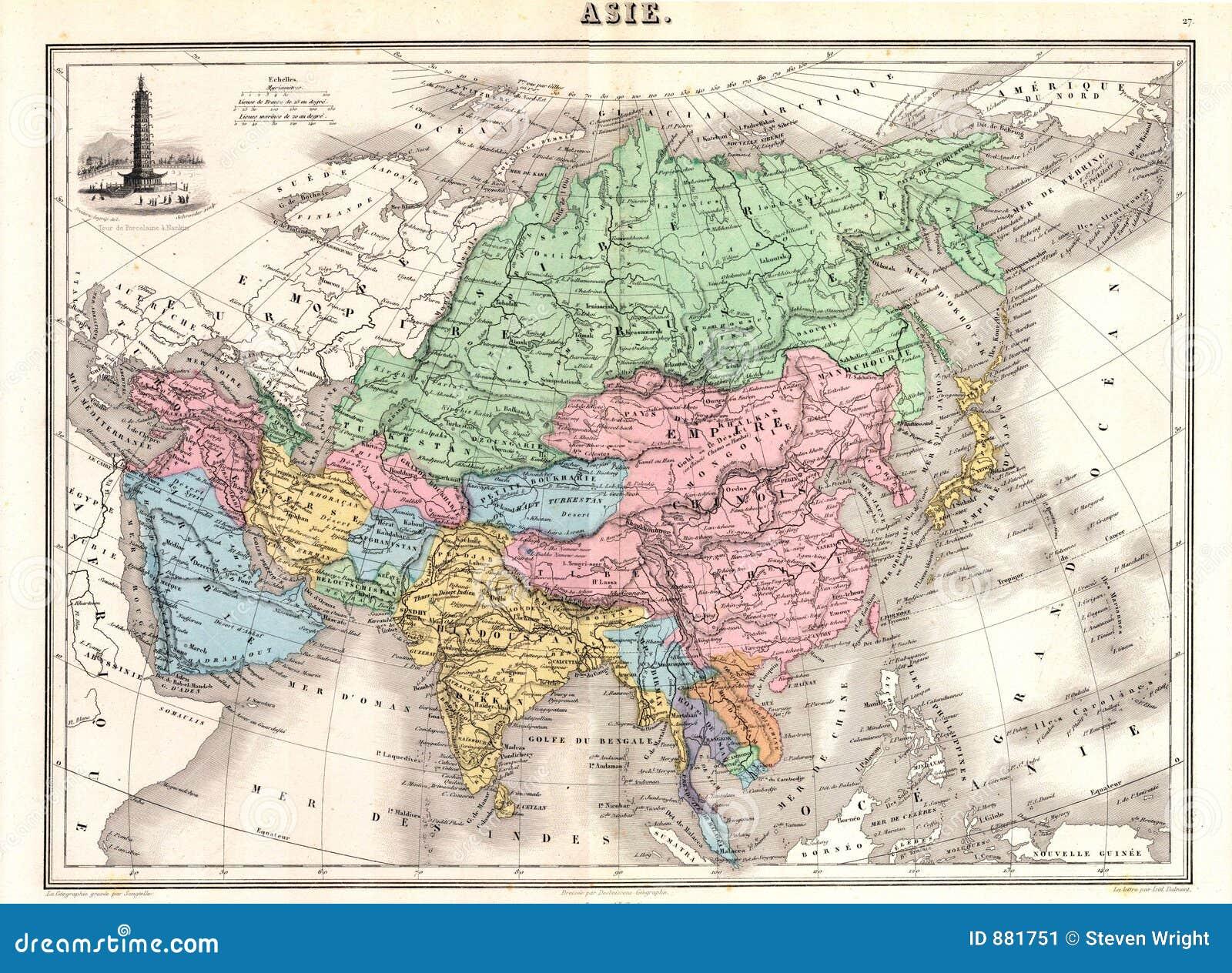 1870 o Azji map
