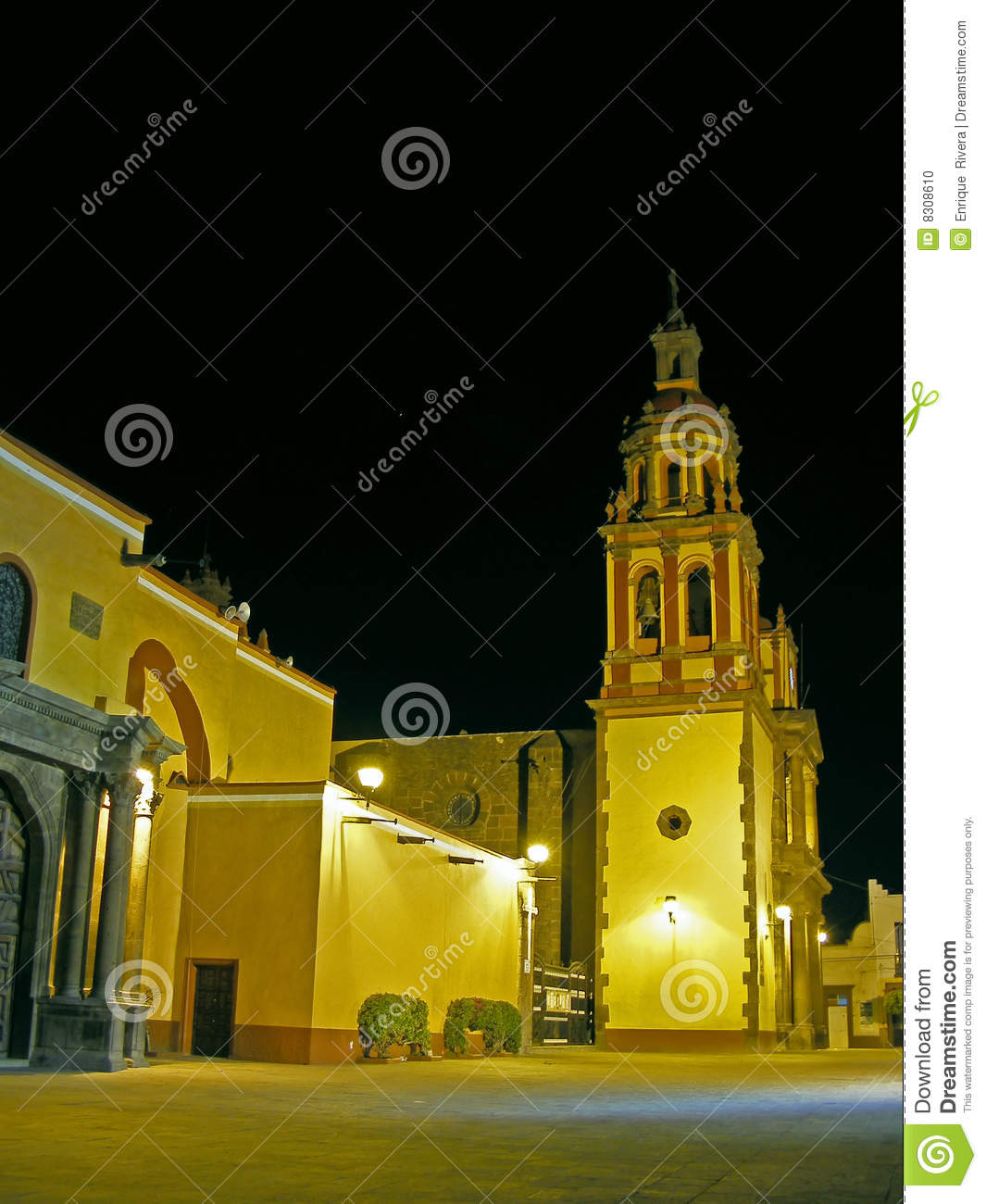 18th century church night view