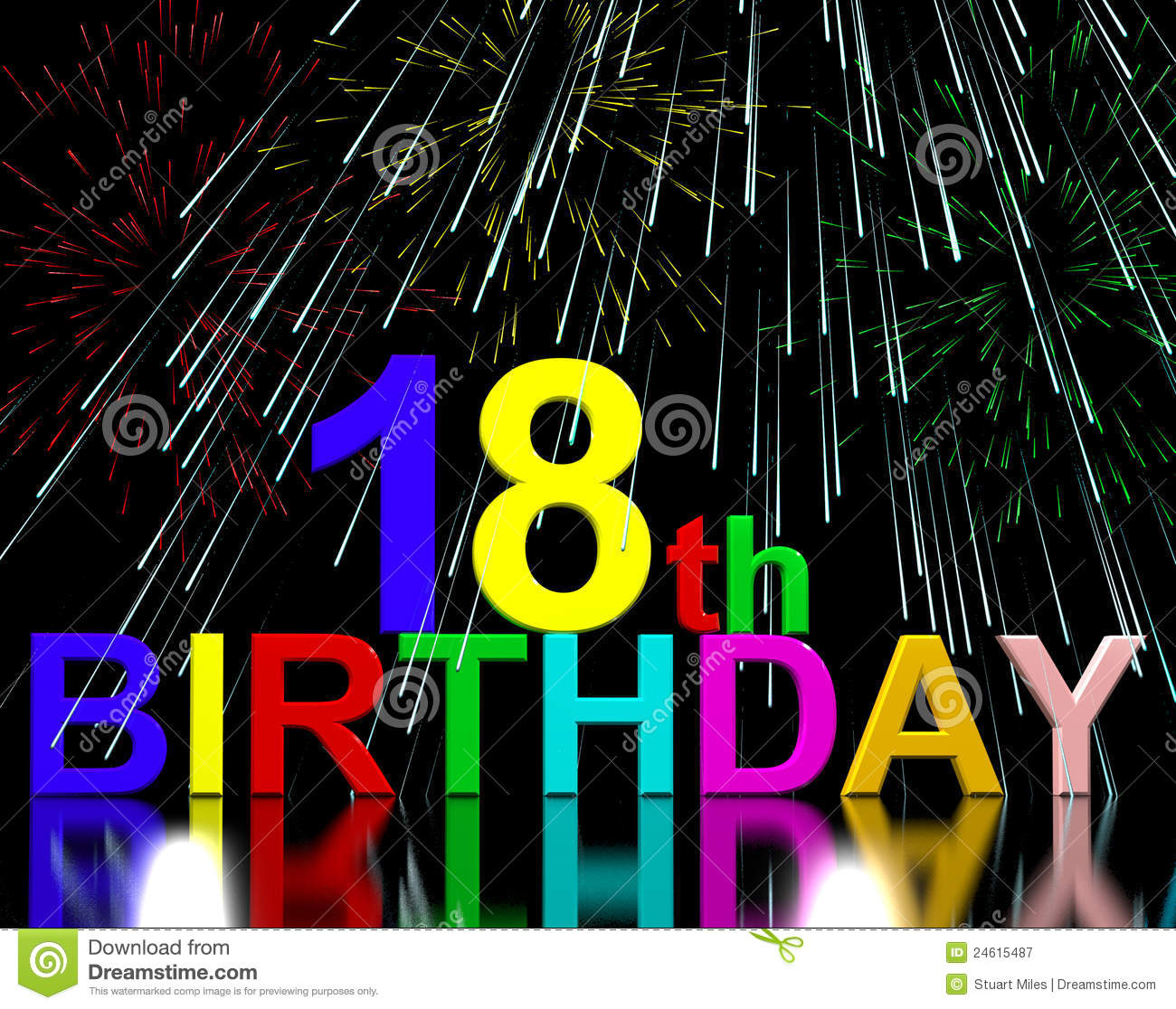 18th Or Eighteenth Birthday Royalty Free Stock Photography - Image ...