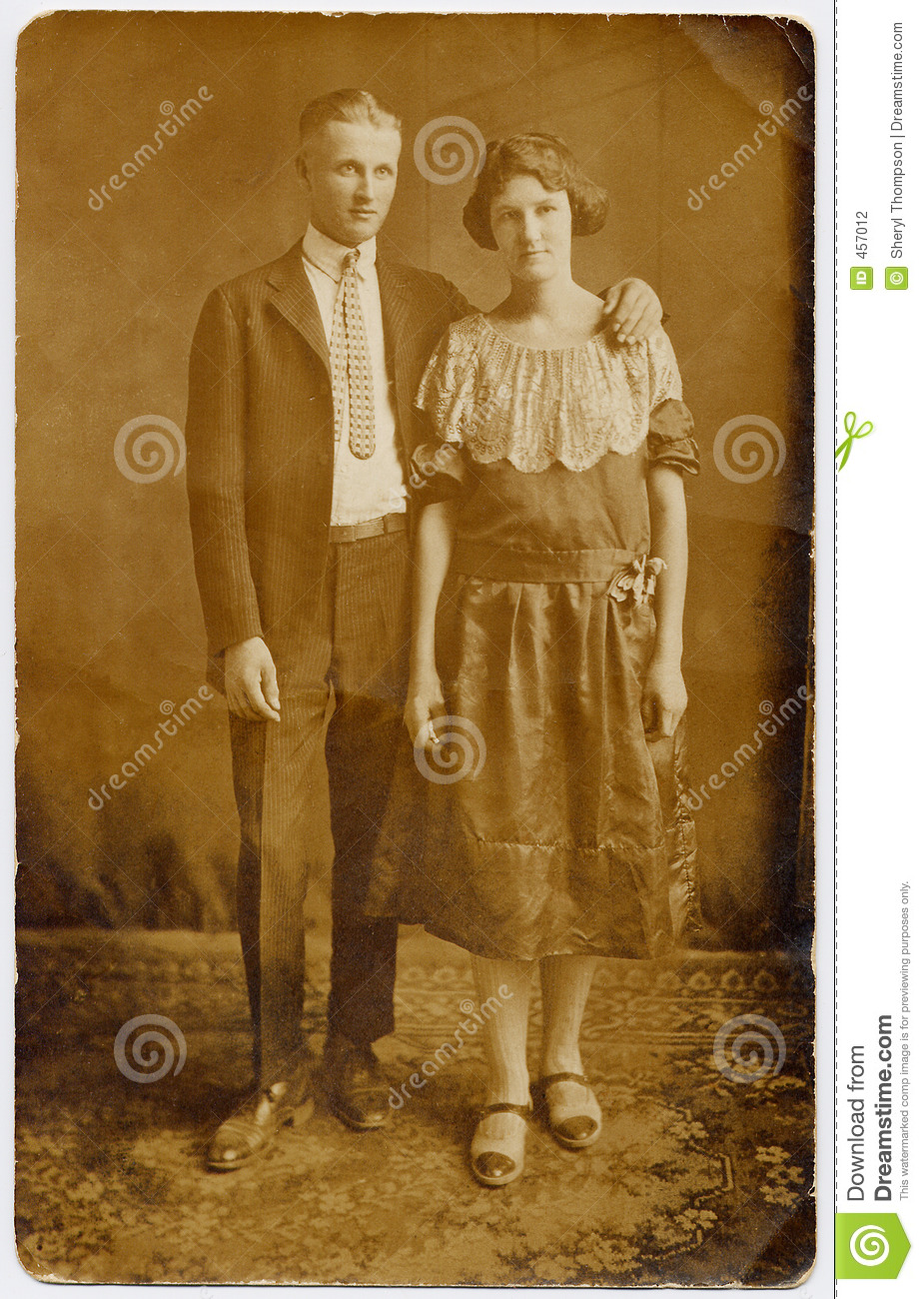 1920 S Couple Wedding Portrait Stock Photography Image